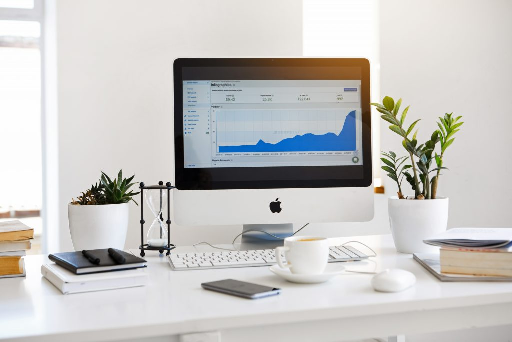 Increased online business sales graph